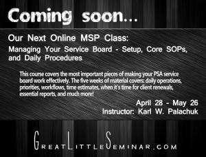 MSP Online Class